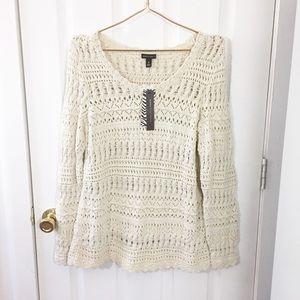 Dana Buchman | NWT Knit Sweater | Cream